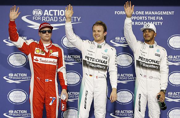 Rosberg takes sixth consecutive pole