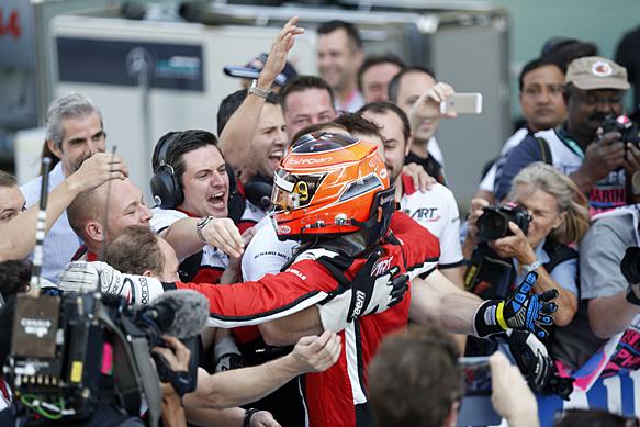 Ocon seals GP3 title, Palou wins race